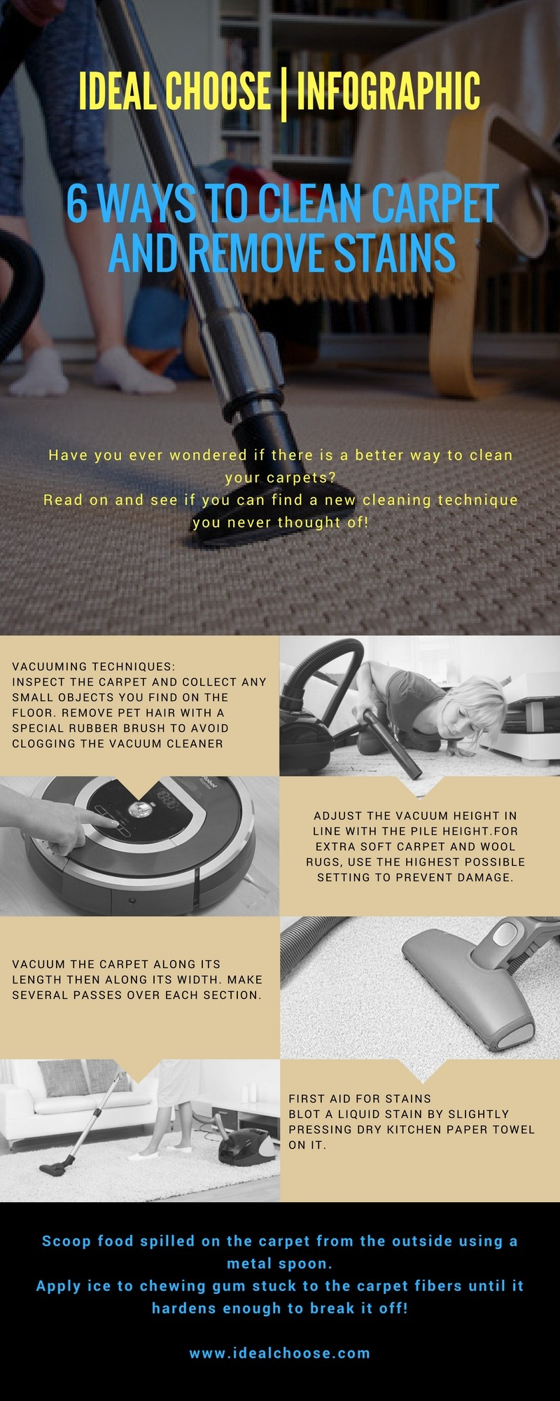 carpet cleaning infographic