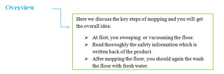 Strategies for cleaning the floor How to Mop